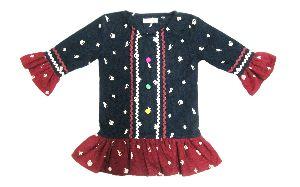 Girls Cotton Long Sleeve Corduroy Dress