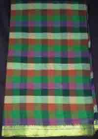 Rainbow Strips Handloom Cotton Saree
