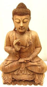 Wooden Buddha Figure