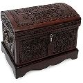 Hand Carved Large Wooden Jewelry Boxes