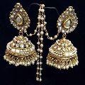 Kundan Polki Bridal earrings