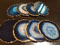 Plated Agate Slice Coaster