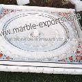 White Marble Inlay Fountain