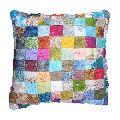 Silk Flower Cushion Cover