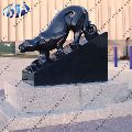 black granite leopard statue