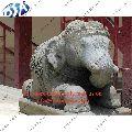 Grey Marble Big Elephant Statues