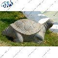 grey sandstone tortoise statue