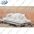 Pure White Marble Sleeping Tiger Statue