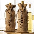 Jute Wine Bottle Gift Bag