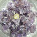 Natural raw amethyst quartz crystal stones