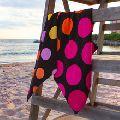Cotton Polka Dots Luxury Bath Sheet