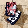 greek border terry bath towel