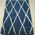 Berber Moroccan Pattern Woolen Shaggy Rug