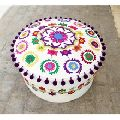 Hand Embroidery Cotton Pouf