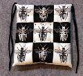 BEE Art Chequer  Cotton Chair Cushion