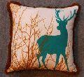 Deer Print Cotton Cushion Cover