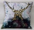 Water Paint Art Cotton Cushion Cover