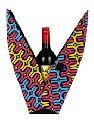 Geometric Printed Wine Bottle Holder