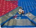 Handloom silk cotton saree with ikkat weaves all over