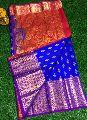 uppada pure silk jamdani Kanchi bridal sarees