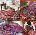 cotton dhurrie carpet round braided rug