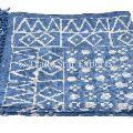 hand block print cotton dhurrie rag rug