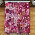 Patola Silk Sarees cotton Fabric bedspread