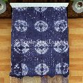 Shibori tie dye fabric cotton bedspread