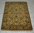 Indian Ethnically Hand knotted square Carpet