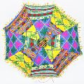 Unisex Beach Fashion Vintage Sun Umbrellas