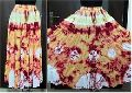 Handmade tie dyed cotton skirt