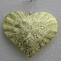 Brass Plating Iron Christmas Hanging Heart