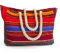 Colorful canvas beach bag