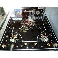 Black Marble Inlay Flooring