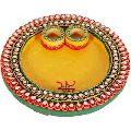 Wooden Handicraft Pooja Plate