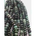 Emerald roundel faceted beads