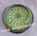 Antique Brass Lens Compass