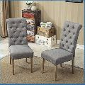 Wood Tufted Parsons Dining Chair