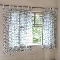Indian Hand Block Printed Window Curtain
