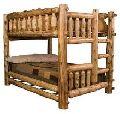 Wooden antique bunk bed