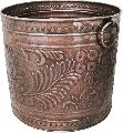 copper hammered large outdoor planter