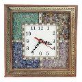 Gemstone Wooden Wall Clock