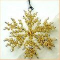 Metal and Beads Christmas Hanging Ornament