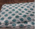 White Green Jaquard Brocade Embroidery Cotton Fabric