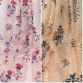 Printed Embroidered Modal Satin Fabric