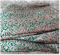 Two Tone Green Red Brocade Jakard Gold Embroidery Fabric