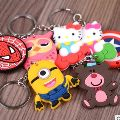 Cartoon Rubber Keyrings