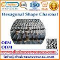 Hexagonal Sawdust Charcoal Briquettes