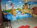 Play school wall painting