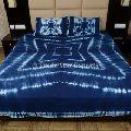 Cotton Hand Dyed Shibori Bedspread